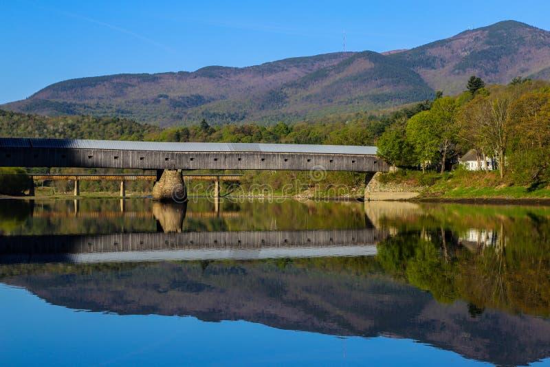 Cornish Windsor Covered Bridge stock photos