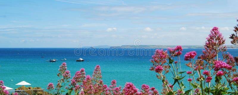 Cornisk kust från St Ives clifftop royaltyfri bild