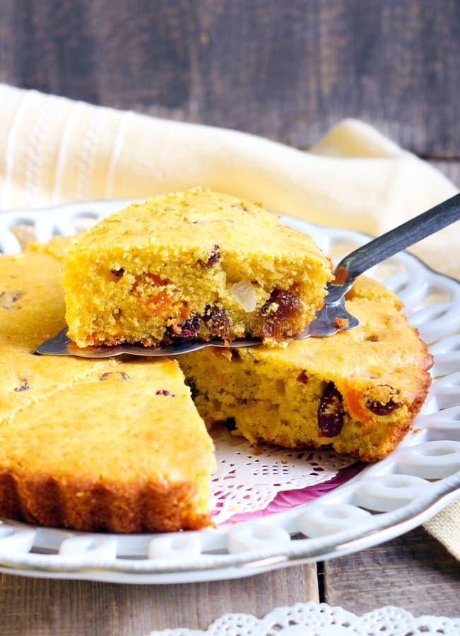 Cornmeal suszący - owoc tort zdjęcie royalty free