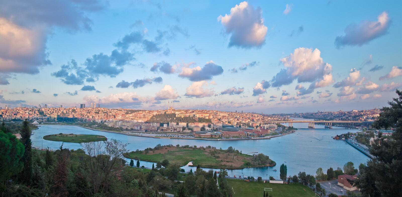 Corno dorato di Costantinopoli fotografie stock libere da diritti
