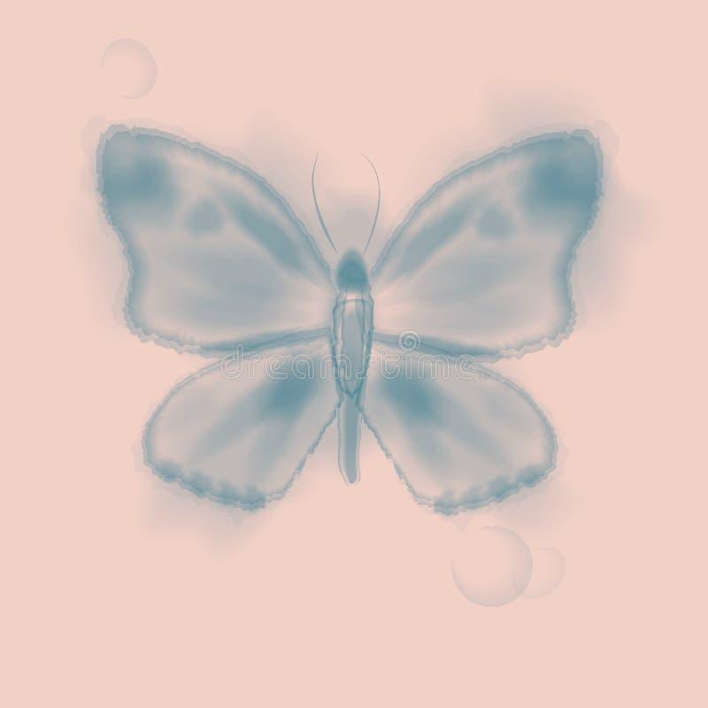 Cornouiller et papillon pâles illustration libre de droits
