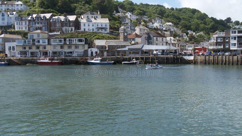 ` Cornualha Reino Unido de Looe do `, a cidade & porto foto de stock