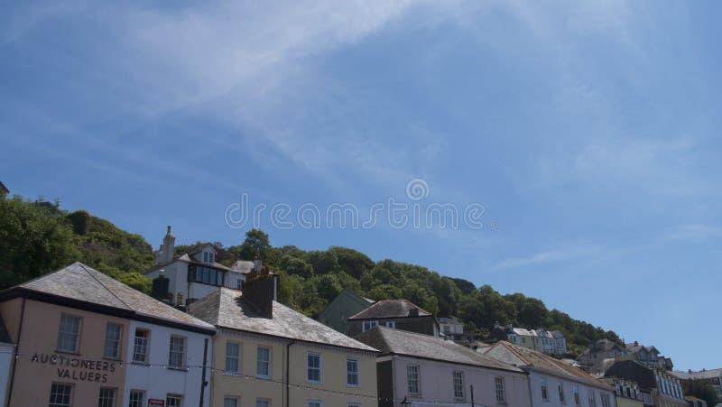 ` Cornualha Reino Unido de Looe do `, a cidade & porto fotos de stock royalty free