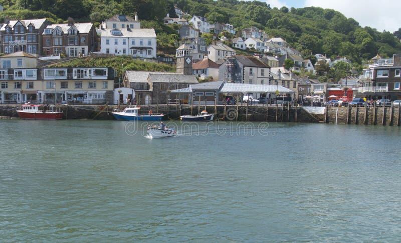 ` Cornualha Reino Unido de Looe do `, a cidade & porto fotografia de stock royalty free