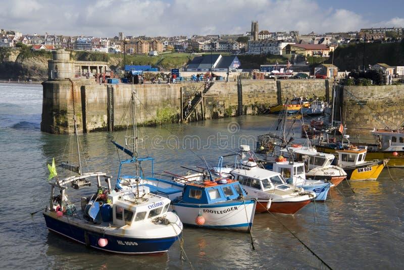 Cornualles - Puerto De Newquay - Reino Unido Imagen editorial
