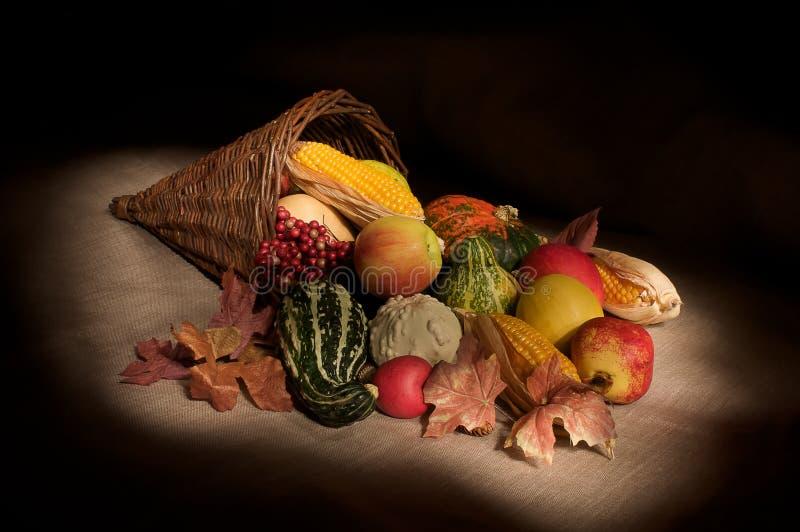 Cornucopia del otoño fotografía de archivo