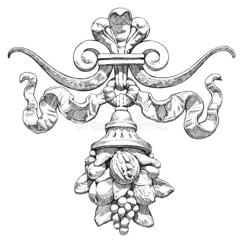 Cornucopia - um símbolo da abundância e da riqueza ilustração stock