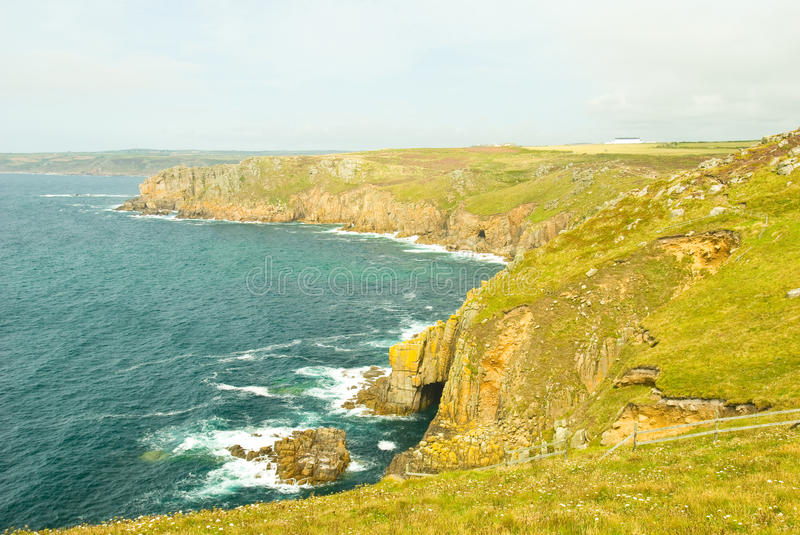 Download Cornwall stock image. Image of cliffs, natural, grass - 26656517