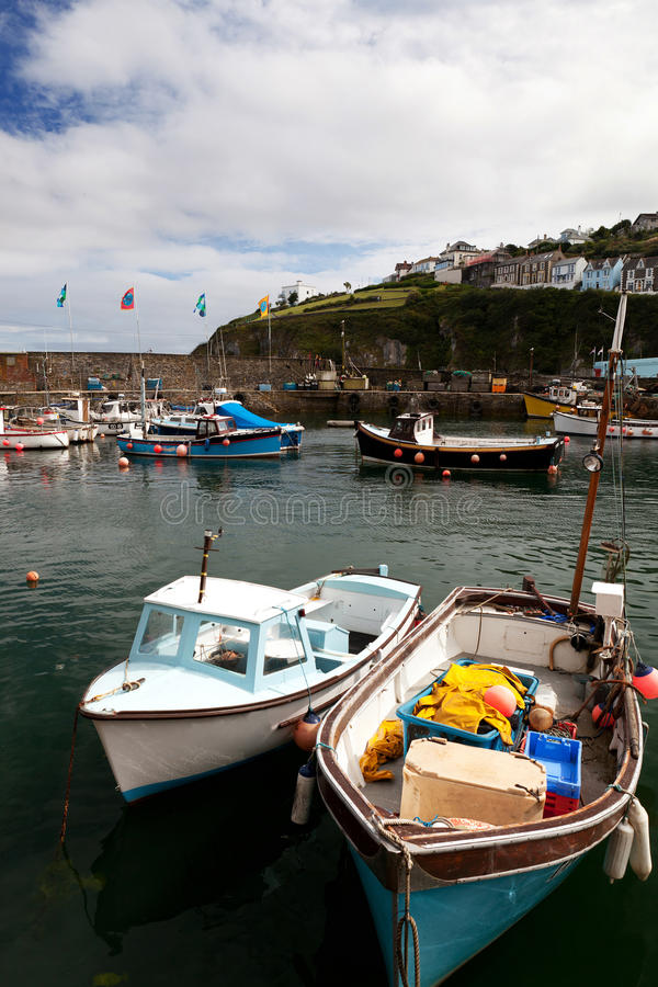 Download Cornwall Boats Harbor Mousehole Fishing Villlage Stock Photo - Image of industry, quay: 20777482