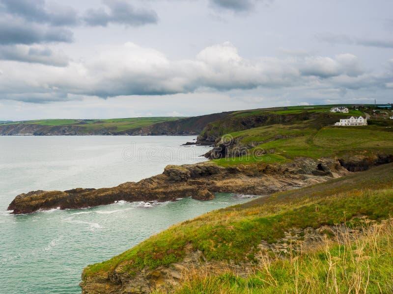 Cornwall Coastline. Landscape view of Cornwall coastline near Port Isaac stock photos