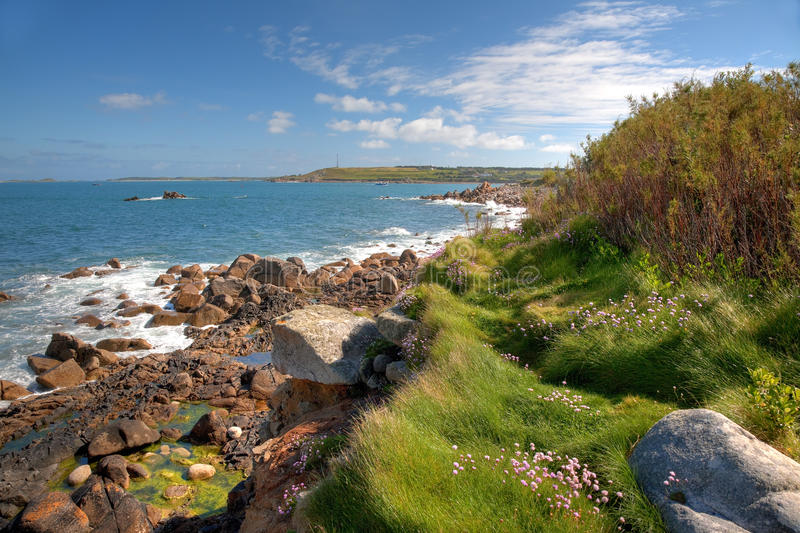 Cornwall Coastline in Summer, England. royalty free stock photo