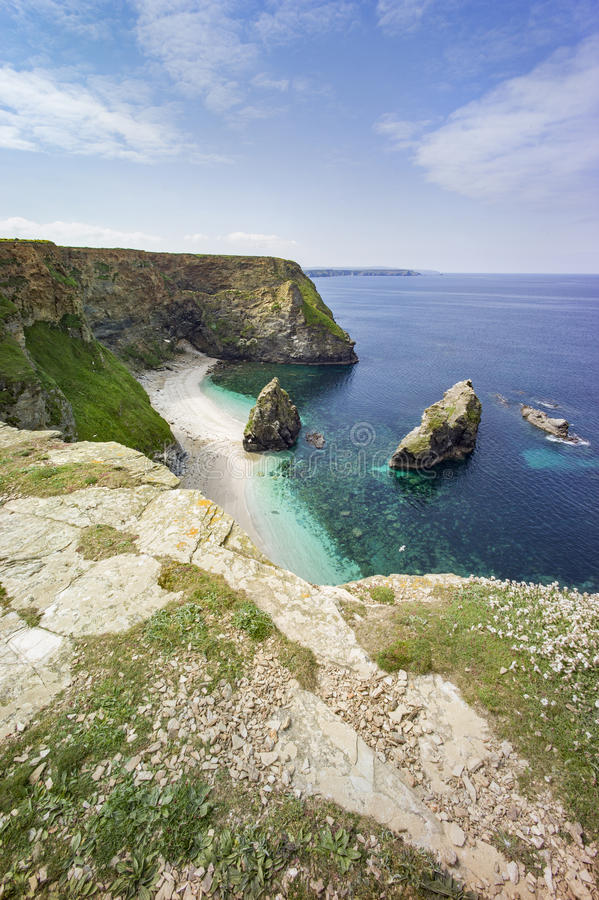 Cornwall-Küstenlandschaft stockfoto