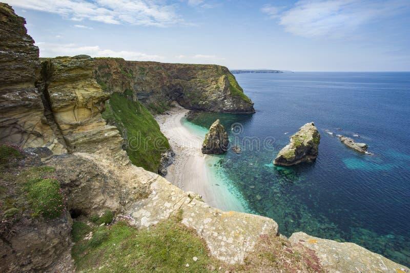 Cornwall-Küstenlandschaft lizenzfreies stockbild