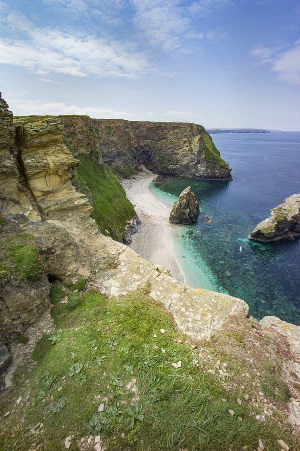 Cornwall-Küstenlandschaft stockbild