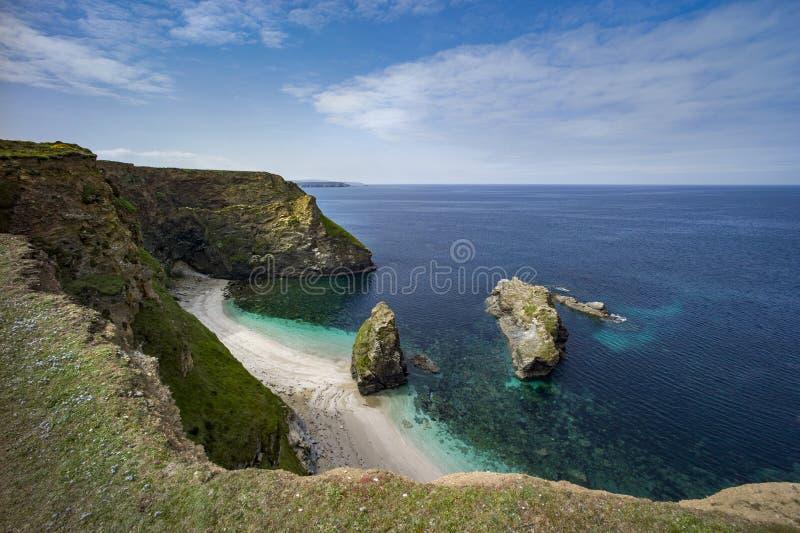 Cornwall-Küstenlandschaft lizenzfreie stockbilder