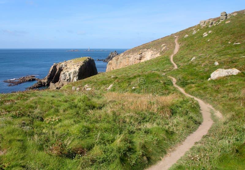 Cornwall-Küstepfad. stockbild