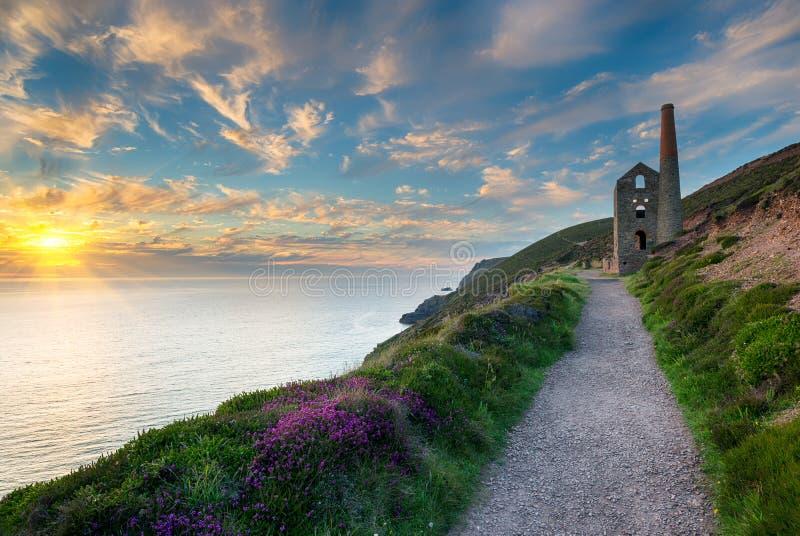 Cornwall Kust royalty-vrije stock foto