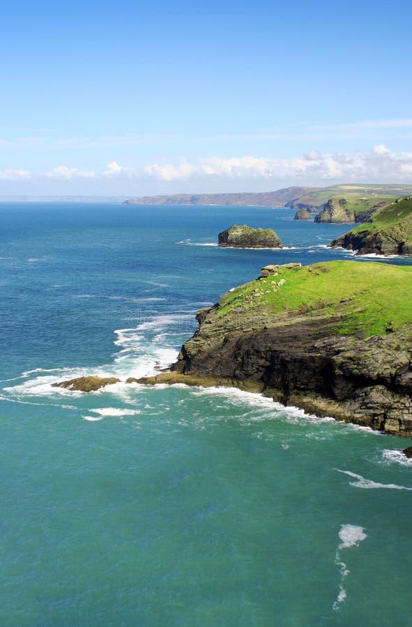 Cornwall kust royalty-vrije stock afbeeldingen