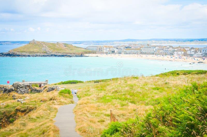Cornwall kust in Engeland royalty-vrije stock foto