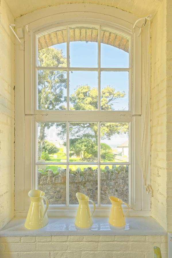 Cornwall venstermening, st michaelonderstel Eiland royalty-vrije stock afbeeldingen