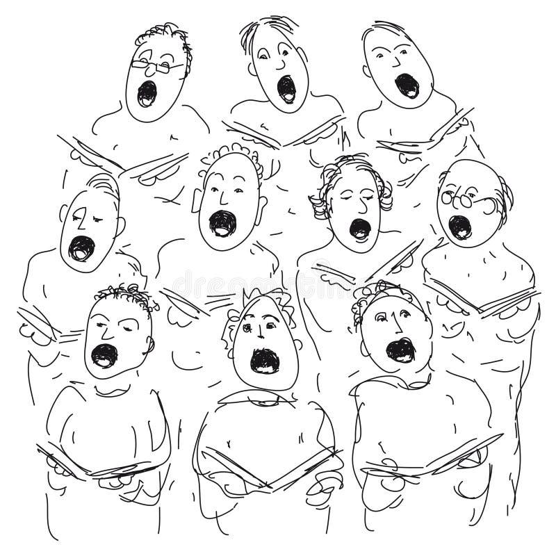 Coro ilustração do vetor