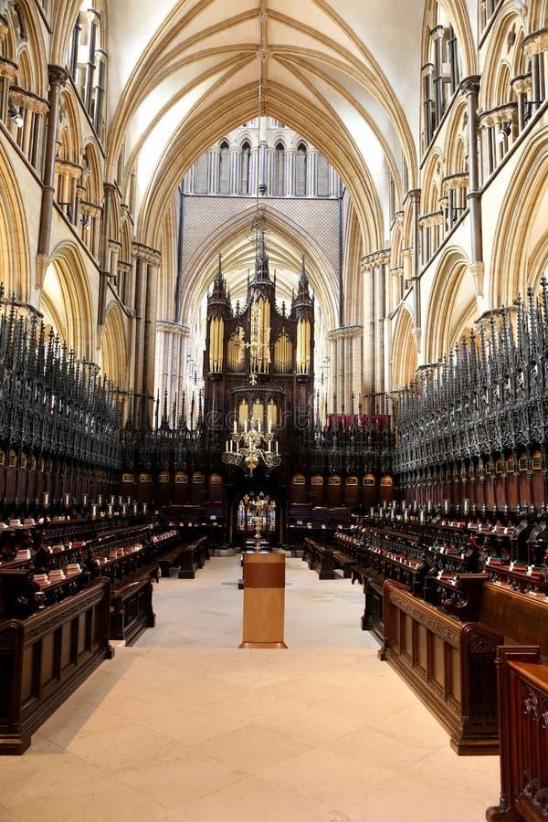 Coro da catedral de Lincoln imagem de stock royalty free
