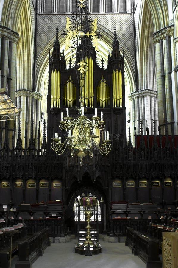 Coro da catedral de Lincoln fotografia de stock royalty free