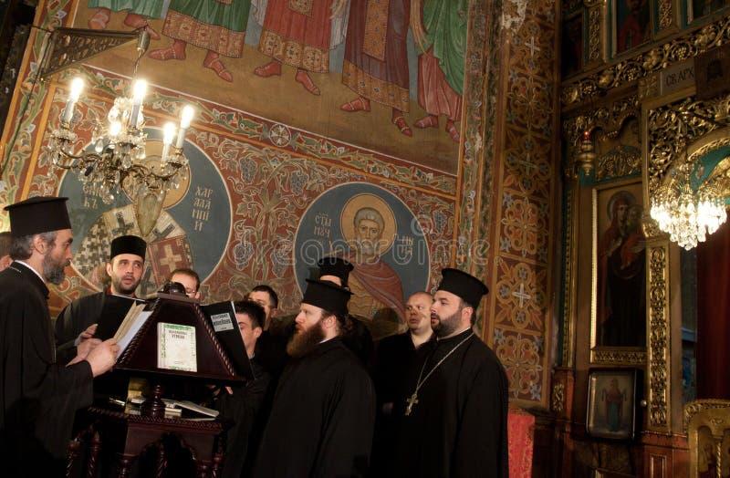 Coro da igreja do St Nedelya foto de stock royalty free