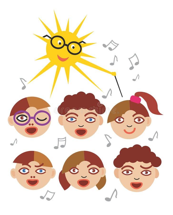 Coro das crianças ilustração stock