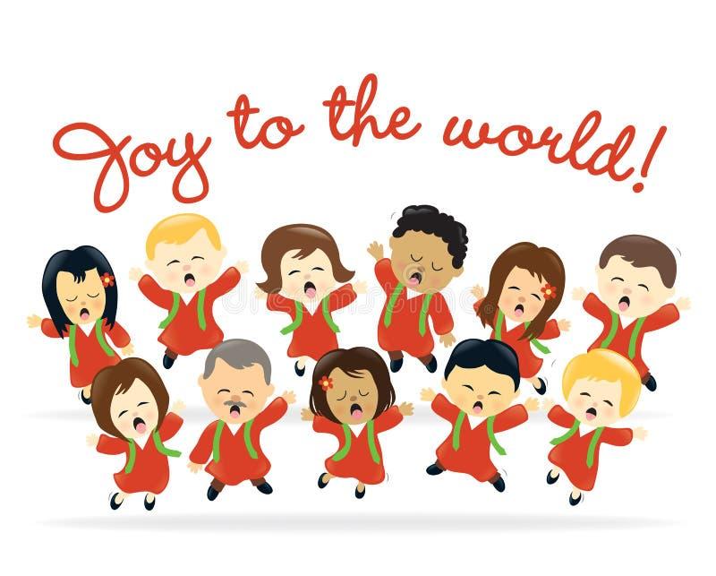 Coro de la Navidad stock de ilustración
