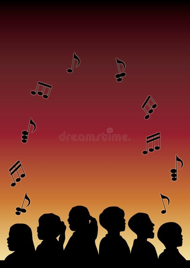 Coro de los niños stock de ilustración