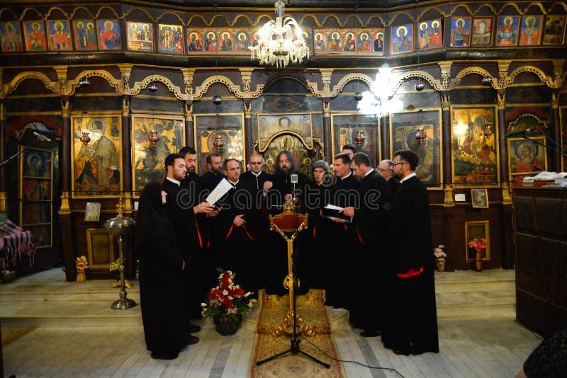 Coro della chiesa ortodossa immagine stock