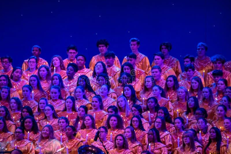 Coro di Candlelight Narrators all'Epcot 3 immagini stock libere da diritti