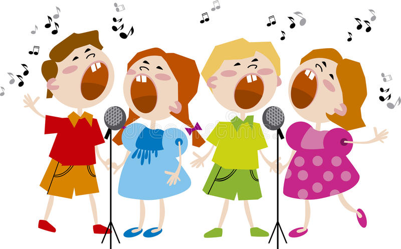 Coro dos miúdos ilustração royalty free