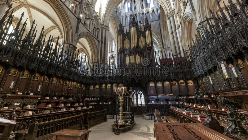 Coro Lincoln Cathedral do St Hughs imagem de stock royalty free