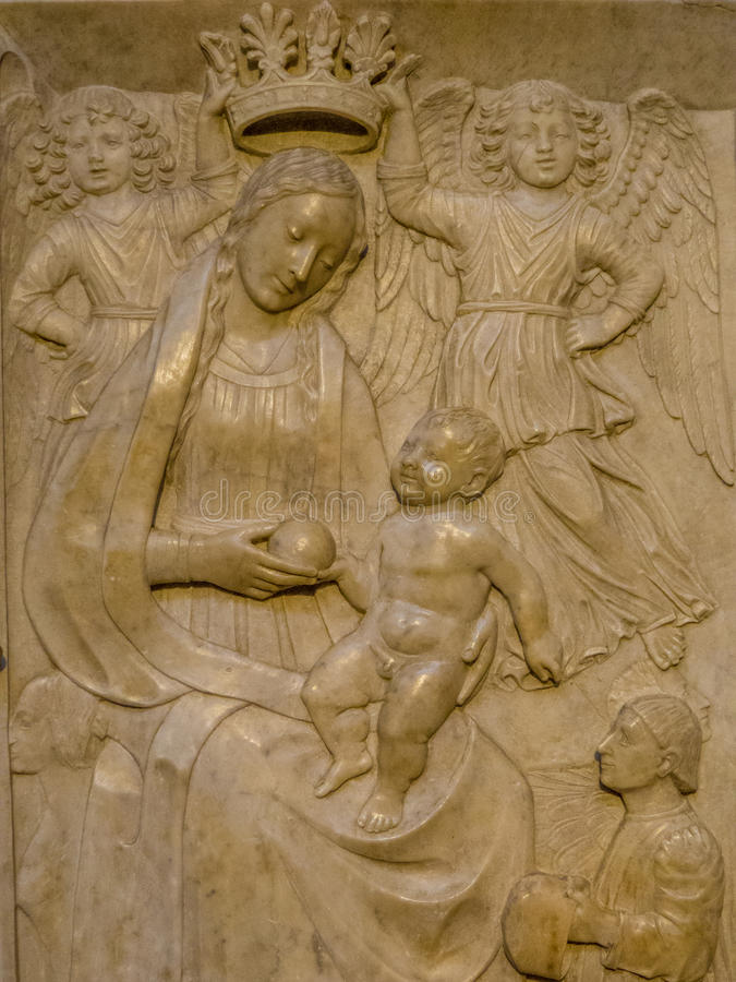 Coroação do Virgin imagens de stock