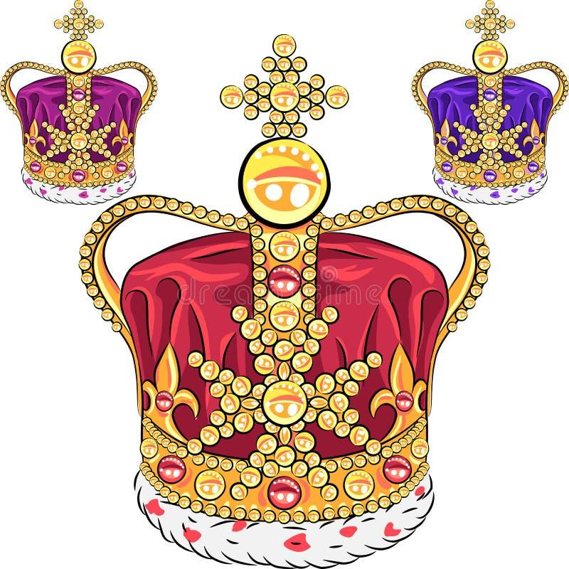 Coroa ajustada do ouro do vetor ilustração royalty free