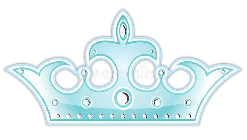 Coroa azul ilustração stock