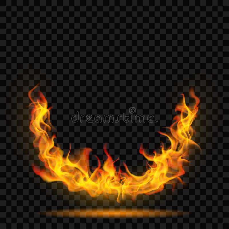 Coroa da chama do fogo ilustração do vetor