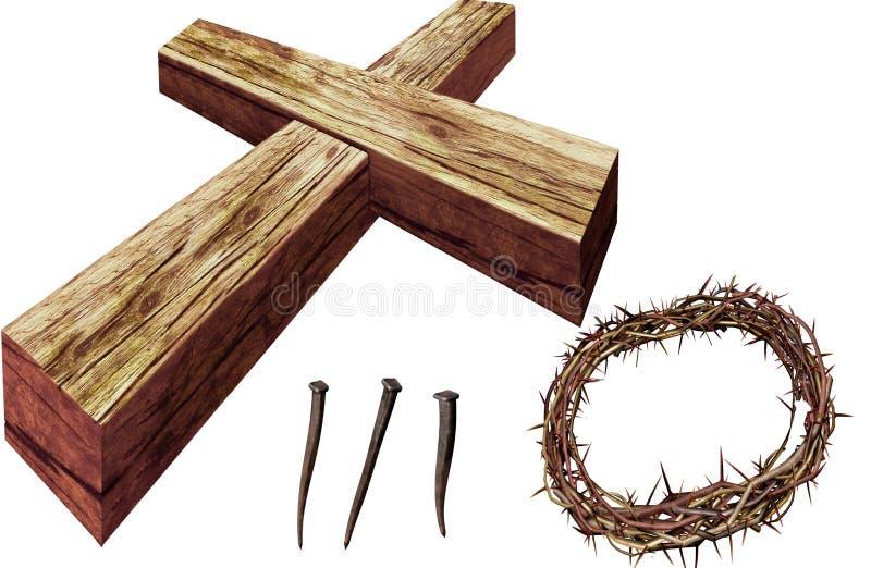 Coroa de Easter imagem de stock royalty free