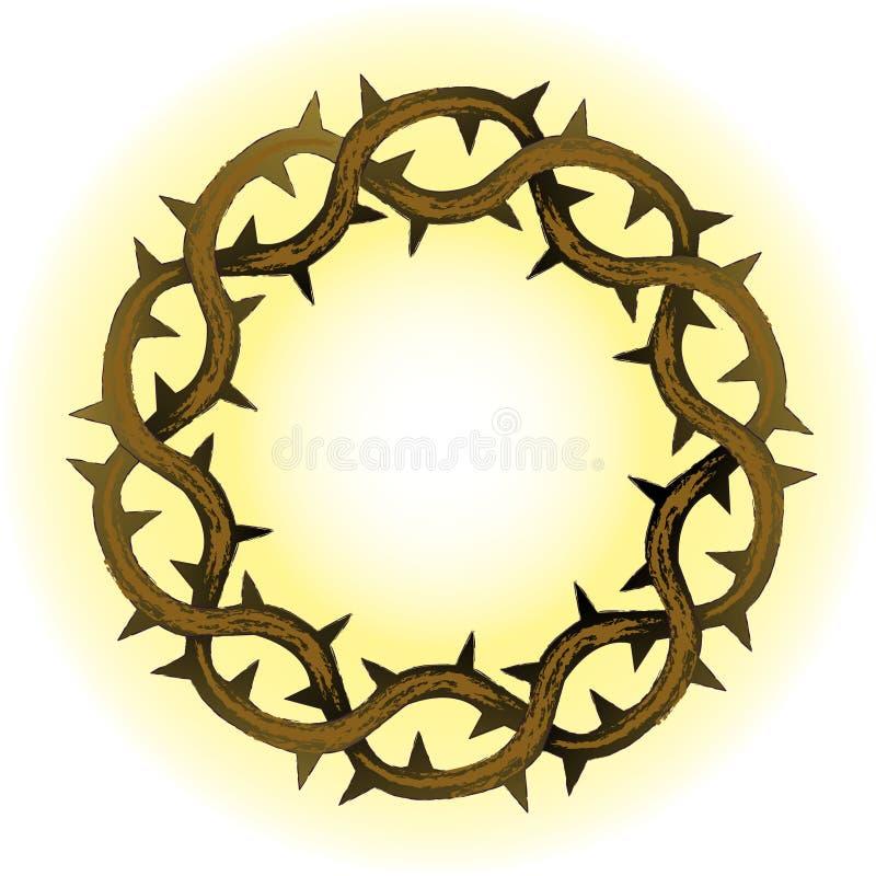 Coroa de espinhos ilustração royalty free