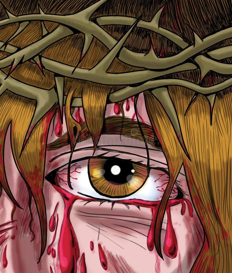 A coroa de espinhos ilustração stock