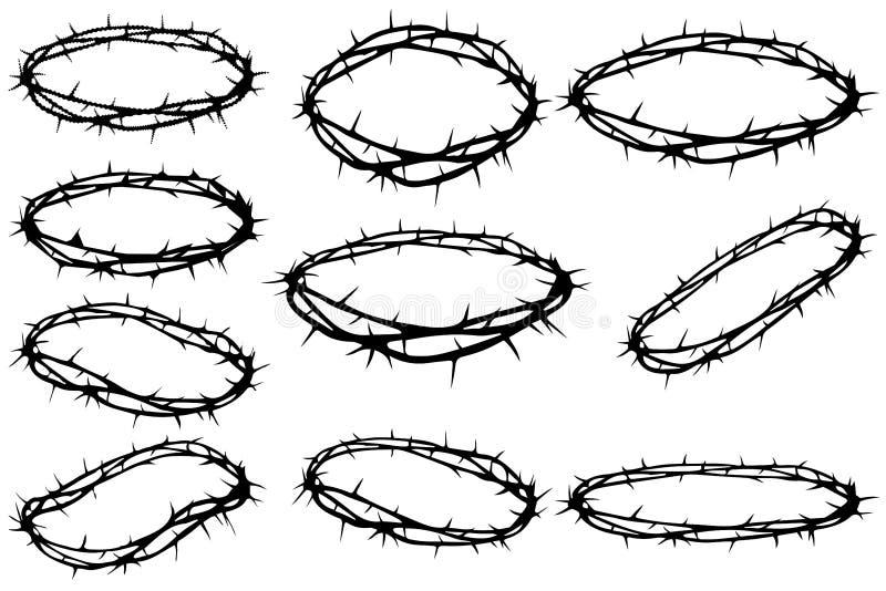 Coroa de espinhos ilustração stock