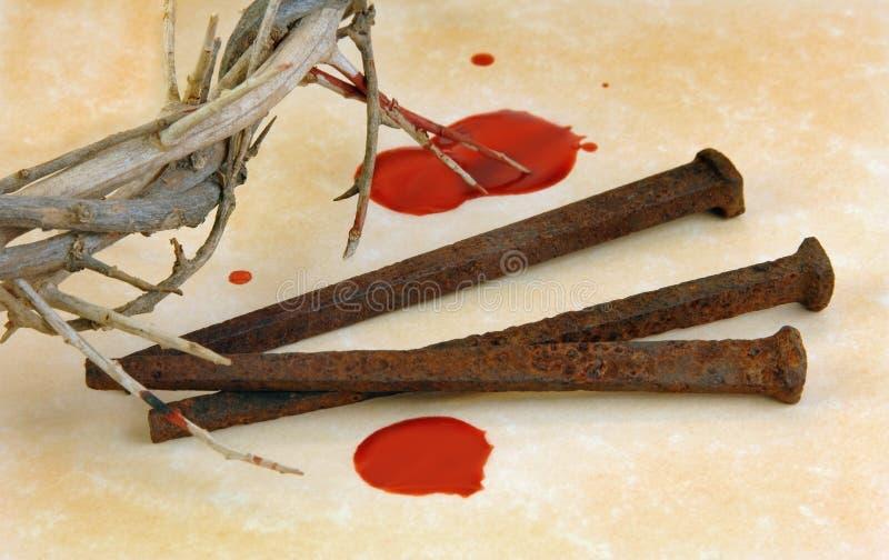 Coroa de espinhos e de pontos imagens de stock royalty free