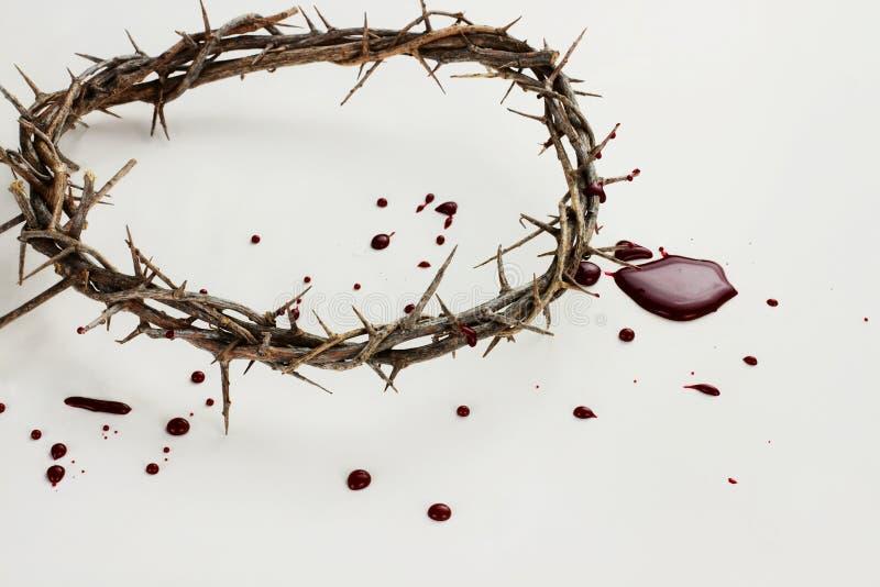 Coroa de espinhos e de sangue foto de stock royalty free