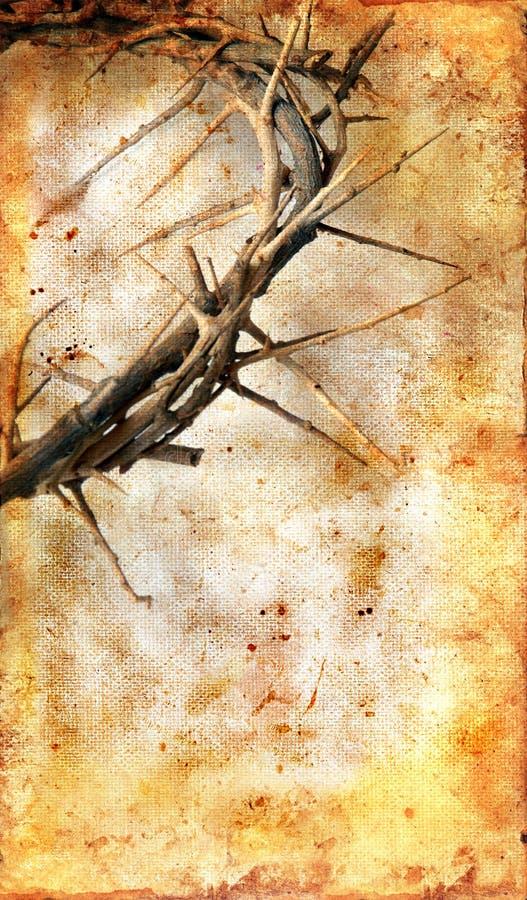 Coroa de espinhos em um fundo de Grunge fotografia de stock royalty free