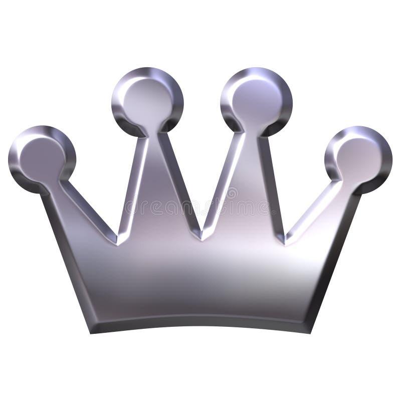 Coroa de prata ilustração do vetor