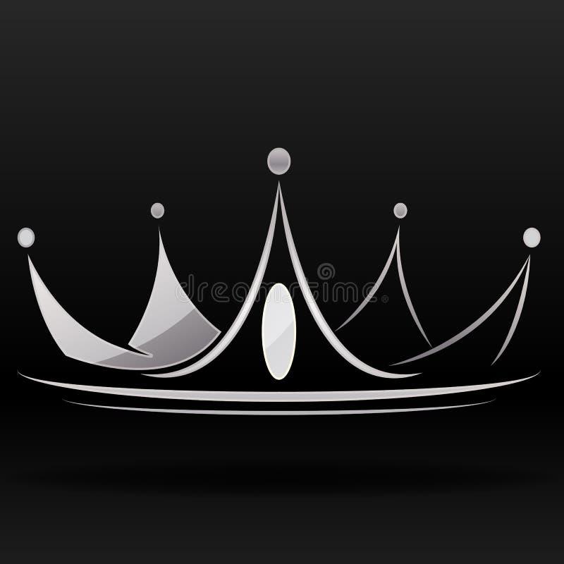 Coroa de prata ilustração stock
