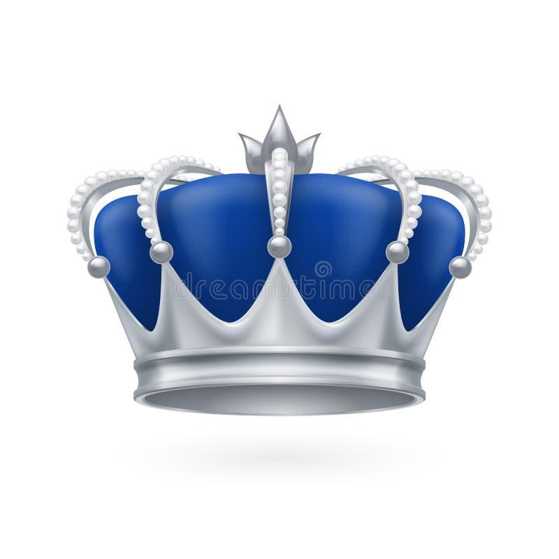 Coroa de prata ilustração royalty free