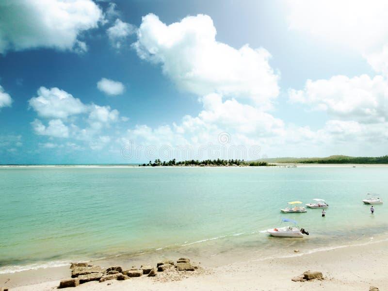 Ilha Coroa do Avião em Itamaraca, Pernambuco stock images